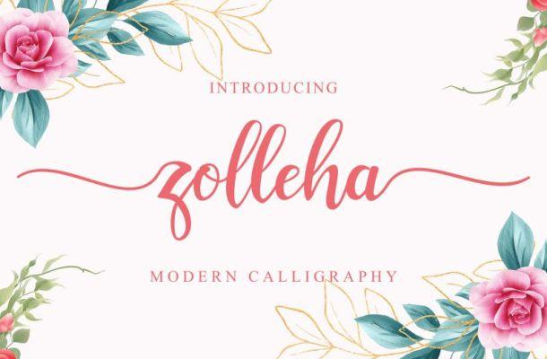 Zolleha Modern Calligraphy Font
