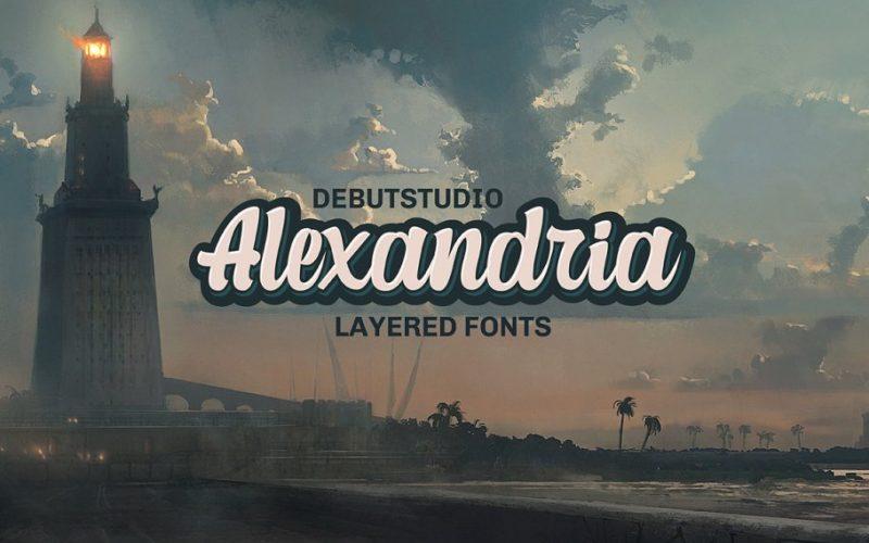 alexandria-script-layered-font