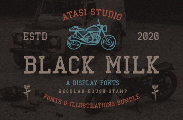 Black Milk Display Font