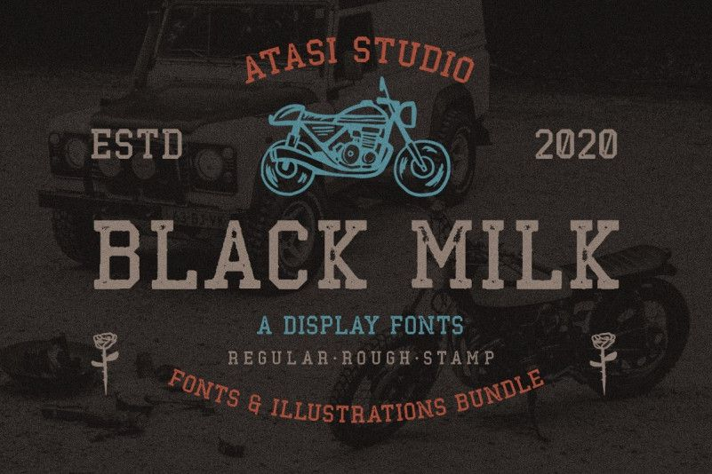 Download Black Milk Display Font - Dafont Free