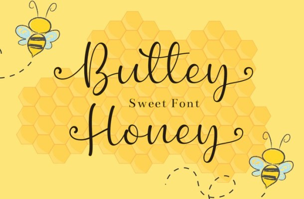 Buttey Honey Calligraphy Font