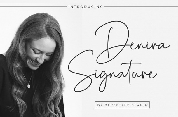 Denira Signature Font