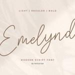 Emelynd Luxury Signature Font