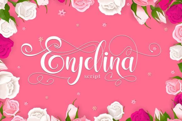 Enjelina Calligraphy Font