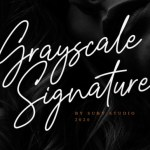 Grayscale Signature Font