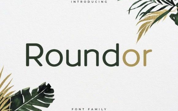 Roundor Sans Serif Font