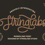 StringLabs Monoline Retro Font