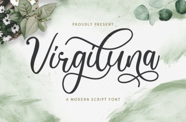 Virgiluna Modern Calligraphy Font