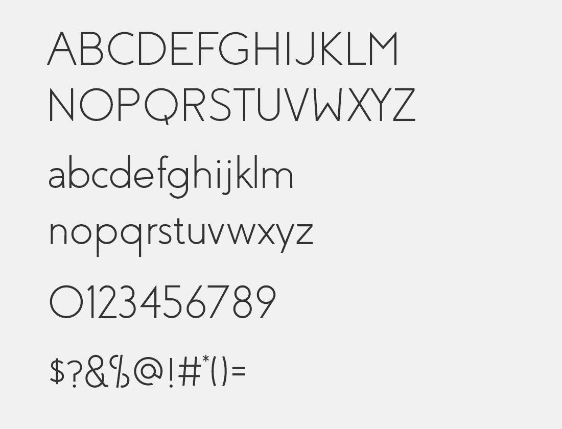 3 Coves light font