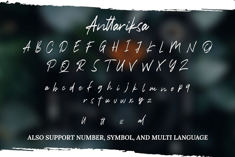 Anttariksa - Brush Script Font-3