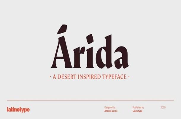 Arida Serif Font