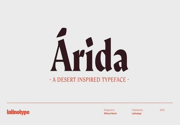 Arida Serif Font-1