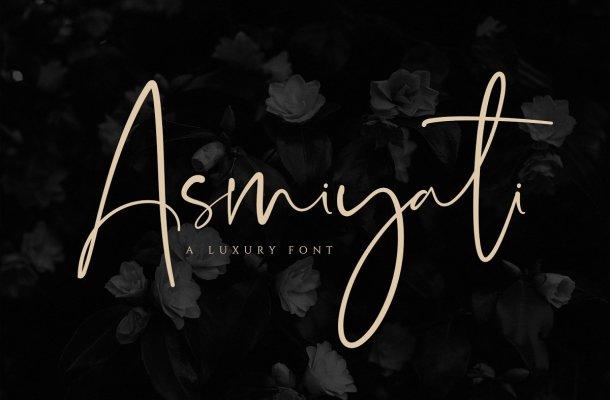 Asmiyati Luxury Script Font