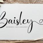 Baisley Calligraphy Font