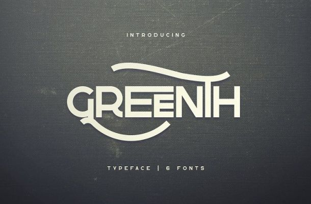 Greenth Display Typeface