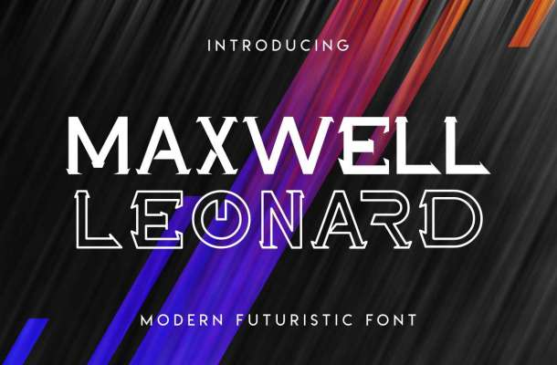 Maxwell Leonard Display Font