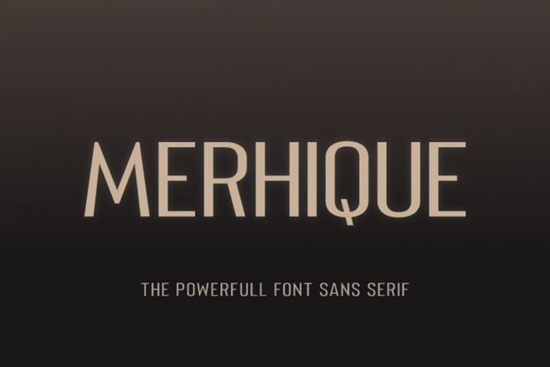 Merhique Sans Serif Family-1