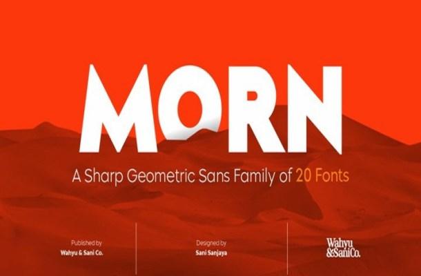 Morn Sans Serif Font