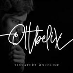 Ottbelix Signature Monoline Font