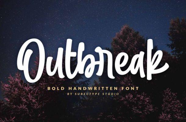 Outbreak Bold Handwritten Font