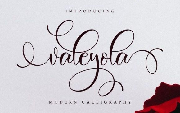 Valeyola Calligraphy Font