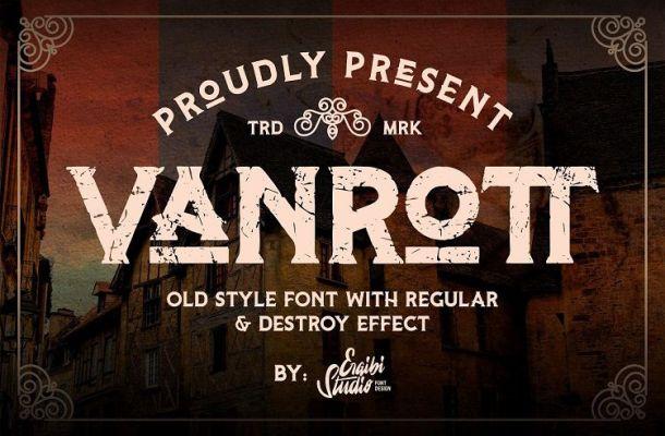 Vanrott Destroy Serif Font