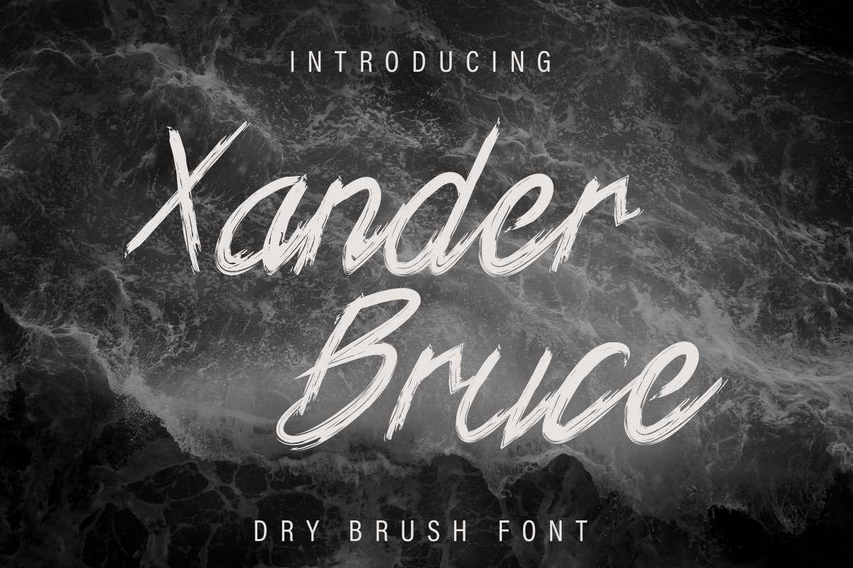 Xander Bruce Brush Font-1