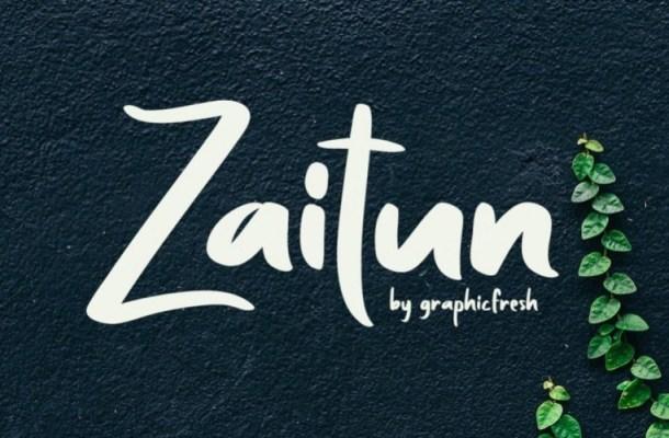 Zaitun Nature Branding Font