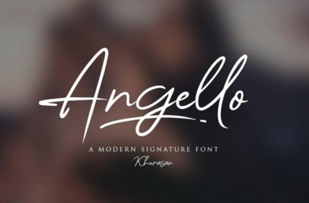 Angello Signature Script Font