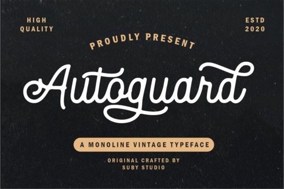 Autoguard Monoline Font