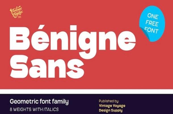Benigne Sans Serif Font