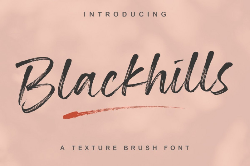 blackhills-textured-brush-font