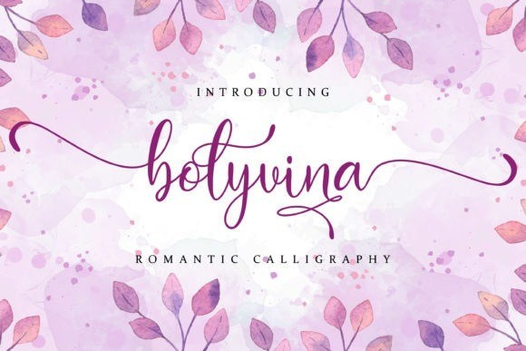 Bolyvina Calligraphy Font