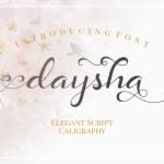 Daysha Calligraphy Font
