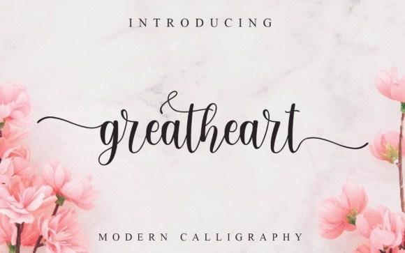 Greatheart Calligraphy Font