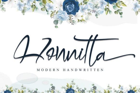Honnitta Calligraphy Font