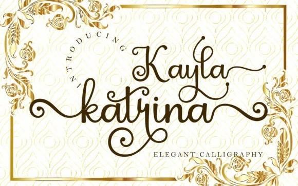 Kayla Katrina Calligraphy Font