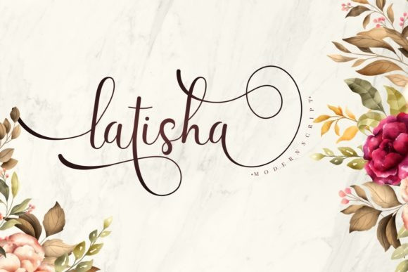 Latisha Calligraphy Font