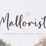 Mallorist Modern Calligraphy Font