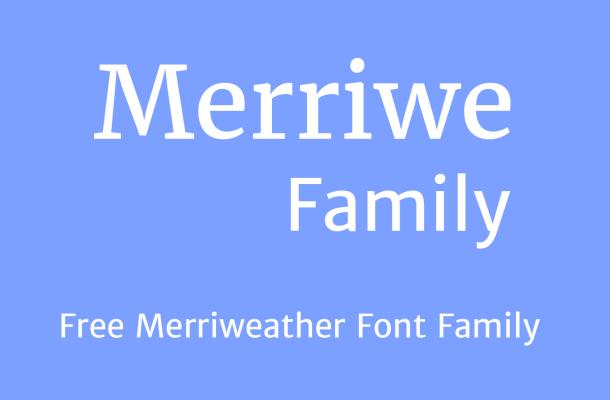 Merriweather Font Family Free