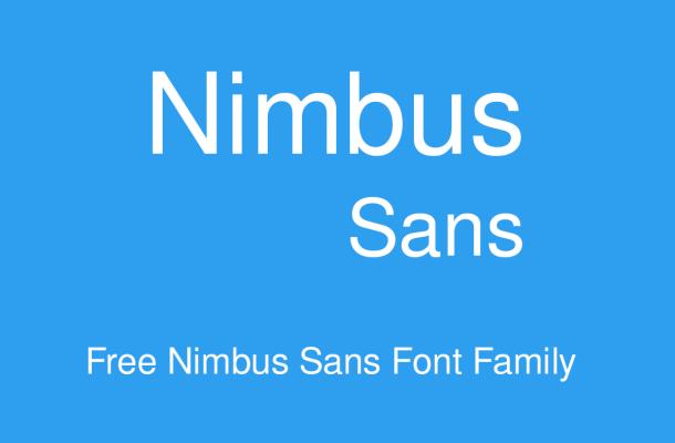 Nimbus Sans Font Family