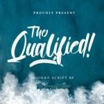 Qualified Script Font