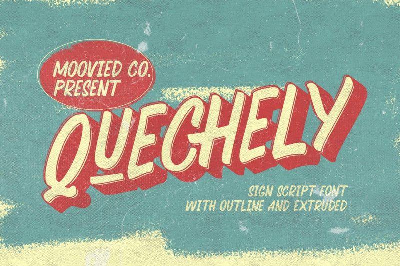 quechely-sign-retro-font