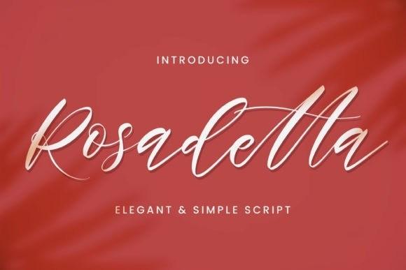 Rosadetta Calligraphy Font