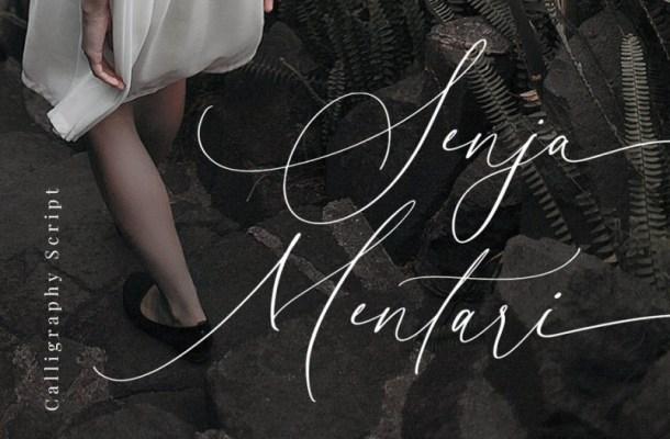 Senja Mentari Modern Script Font