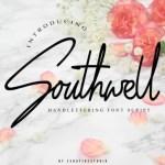 Southwell Monoline Signature Font