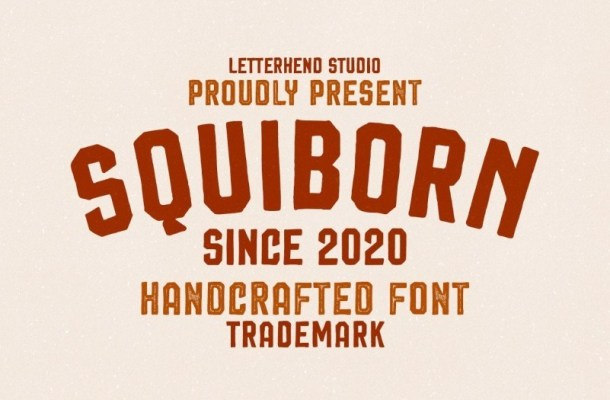 Squiborn Logo Display Font