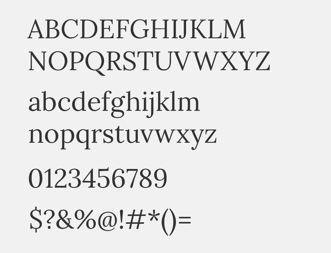 21 Lora font