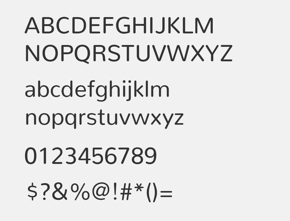 22 Nunito font