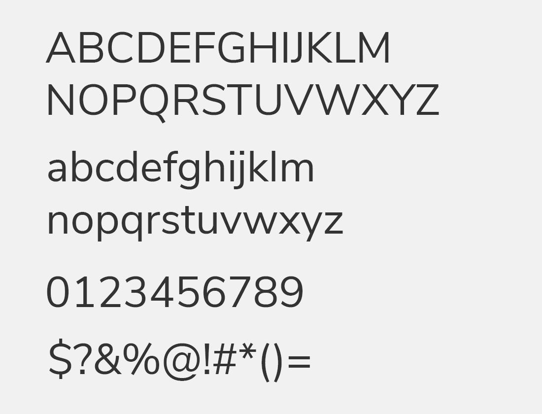 29 Nunito Sans font